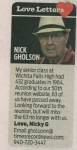 Nick Gholson Newspaper Article.