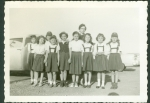 Bluebirds Picture 1955, Bonham Elementary.  Can you find the ones listed? Those  pictured: Iva Rae Skaggs, Sherry Gayle