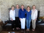Girlfriends gather (Gayla, Kay, Gayle, Pam, Susan) to make memories in March of 2012